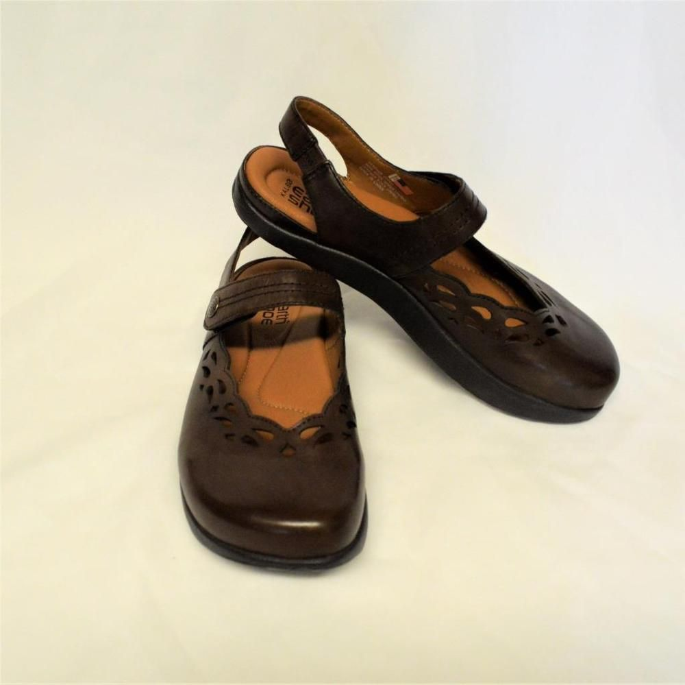 105aced6b2 NEW Kalso Earth Move 9.5M Mary Jane Shoes Brown Leather Negative Heel Open  Back  KalsoEarthShoe  MaryJaneswOpenBack  WeartoWork