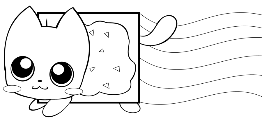 Nyan Cat Coloring Page Coloring Pages For Kids Pinterest Cat
