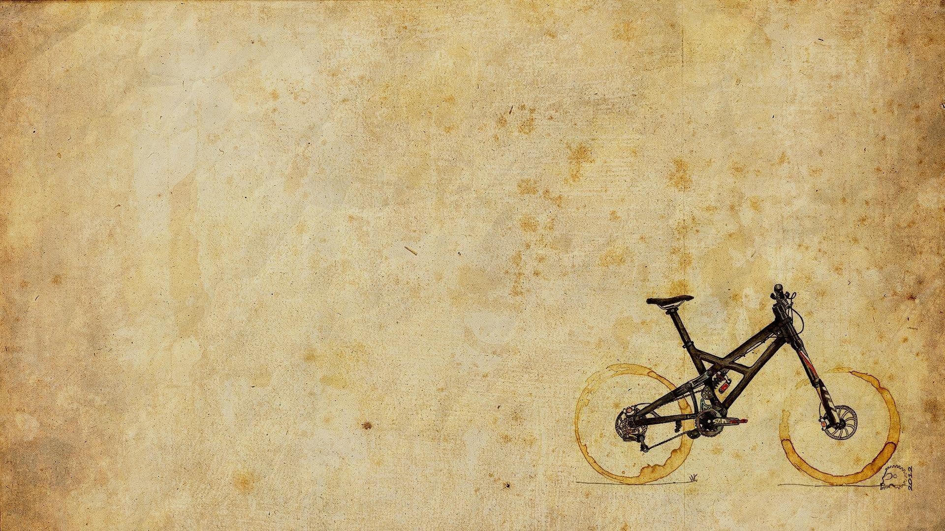 two-cups-coffee-stains-mountain-bike-art-hd-wallpaper.jpg (1920×1080 ...