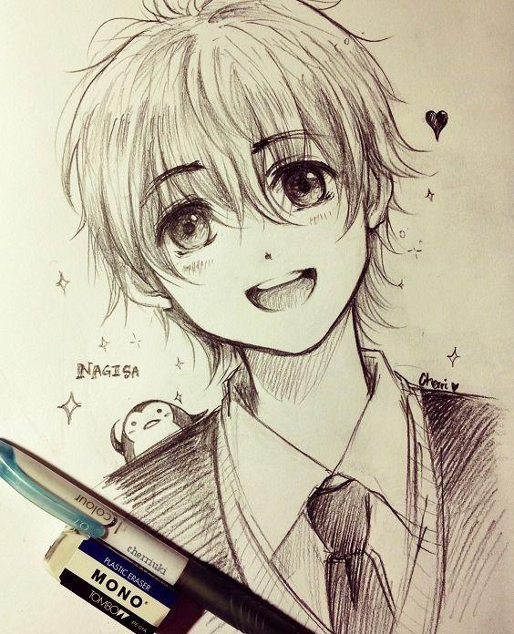 Anime Art Anime Boy School Uniform Blazer Tie Smile Penguin Sparkling Sketch Anime Boy Sketch Anime Drawings Boy Anime Sketch