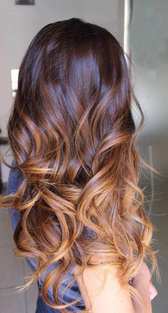 Caramel Hair Caramel Highlights Ideas Hair Color Curlyhairtrends Brownombrehair Cheveux Coiffure Idee Couleur Cheveux