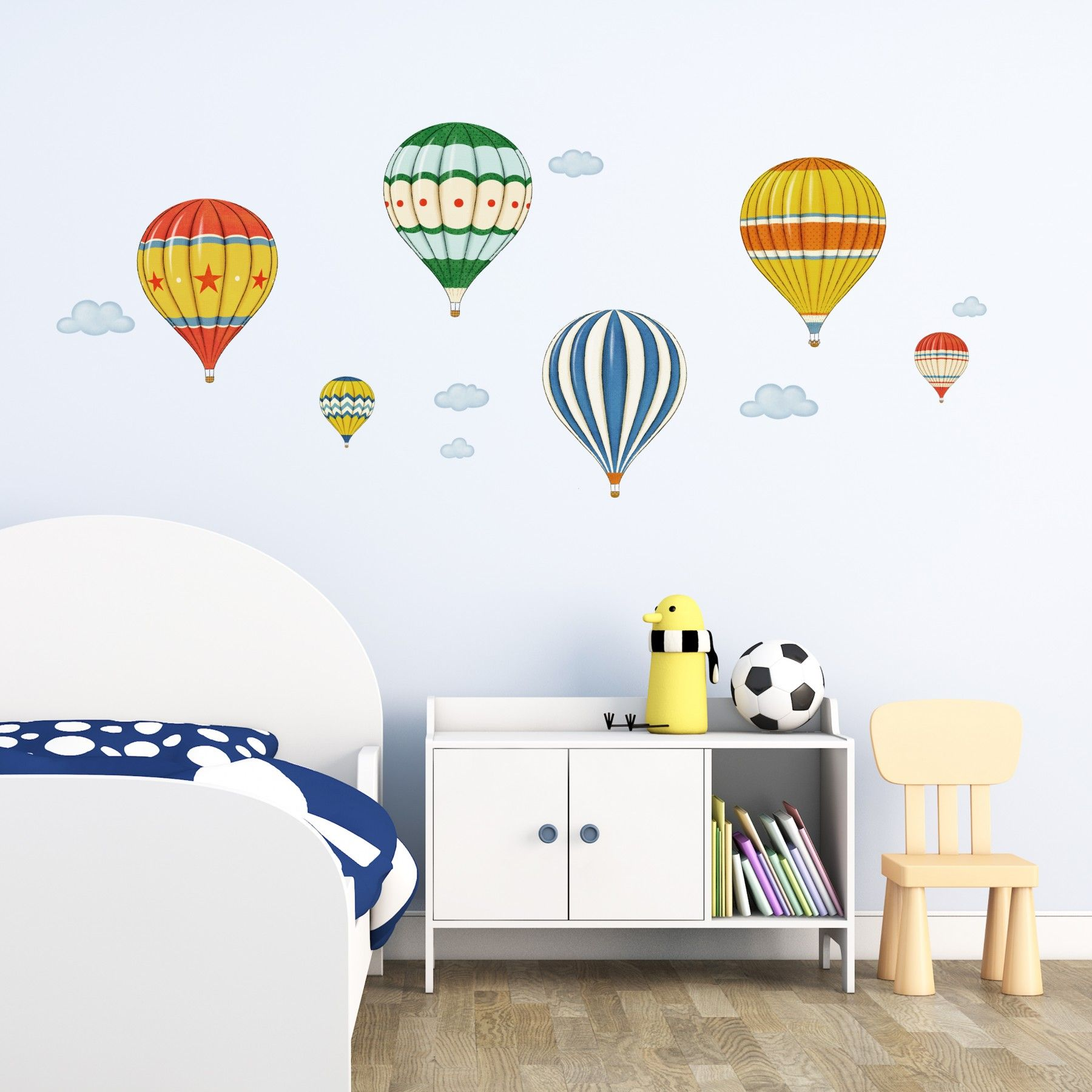 Vintage Hot Air Balloons Wall Stickers Baby Room 2 Pinterest