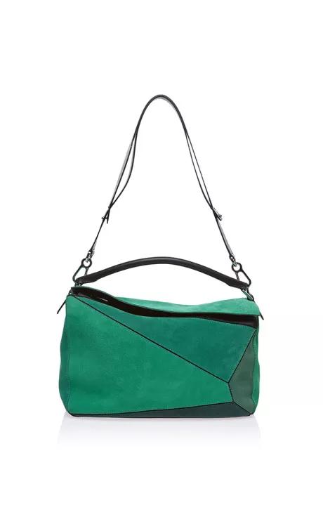 62884de6da Small Puzzle Bag In Green by Loewe for Preorder on Moda Operandi