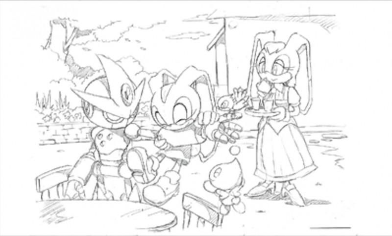 Group Art With Cream And Cheese From The Official Artwork Set For Sonicadvance 3 On The Gameboyadvance Sonicthehed Sonic Advance 3 Hedgehog Drawing Sonic
