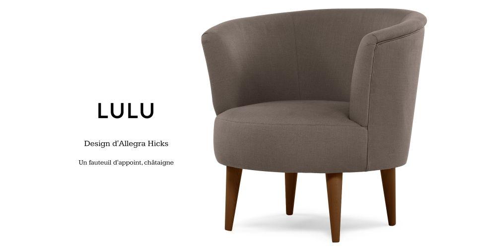 Lulu, design d'Allegra Hicks, un fauteuil d'appoint, châtaigne | made.com