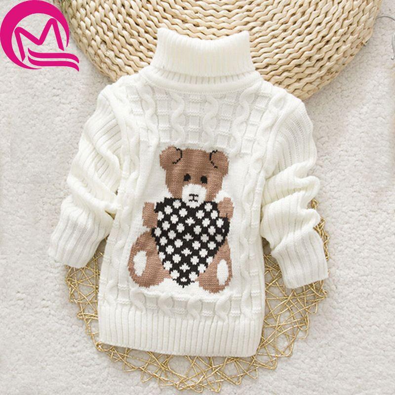 34a76d323006 Autumn Winter Baby Girl Sweater Pullover Cartoon Cute Bear Sweaters ...