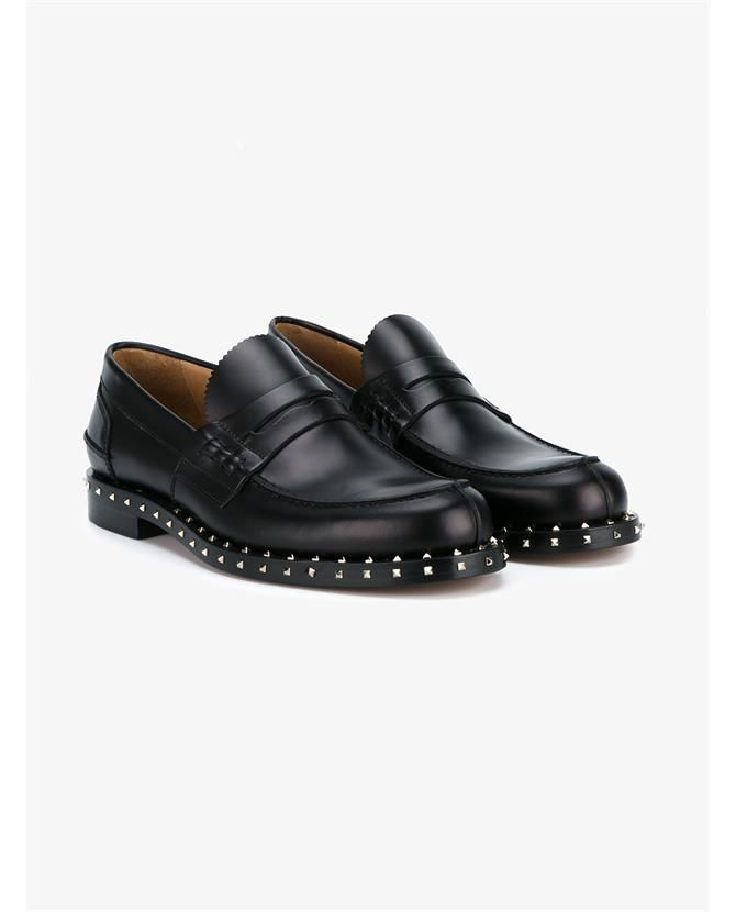 f3c652d6581 VALENTINO Rockstud Penny Loafers.  valentino  shoes  flats ...