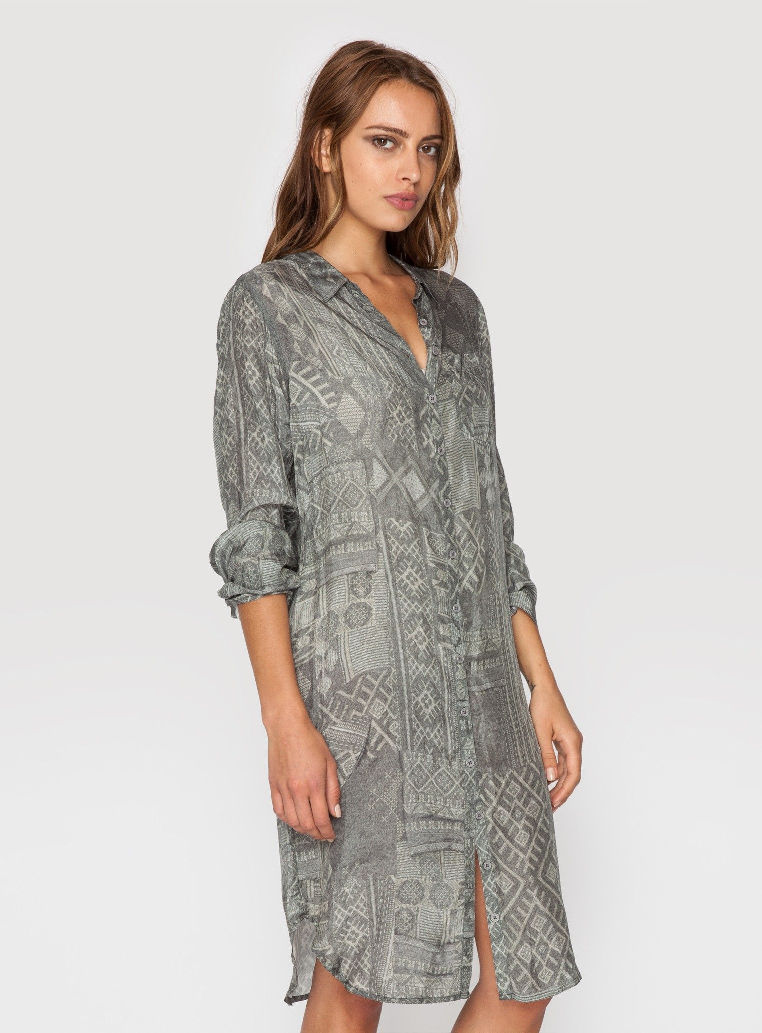 Kumal Button-up Tunic Multi