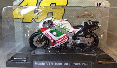LEO 1:18 46 # Limited Collector Rossi Motorcycle Model Series MotoGP Apulia Yamaha Honda Motorcycle Toys