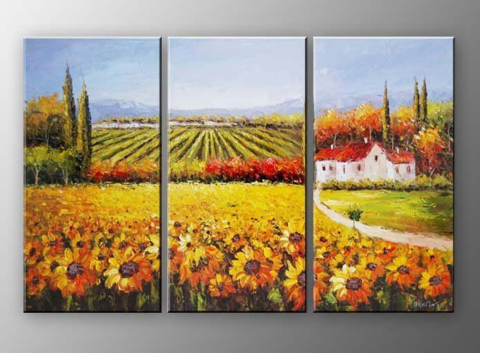 3 piece countryside wall art | free shipping & framed | Pinterest ...
