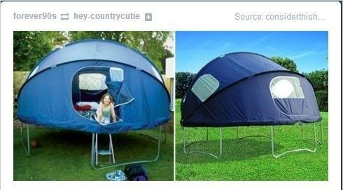 Tr&oline tent for summer sleepovers. Iu0027ve always wanted a tr&oline! But a tr&oline tent? It would totally complete the sleepover! & Trampoline camping - what we always wanted as kids @Jess Ica ...