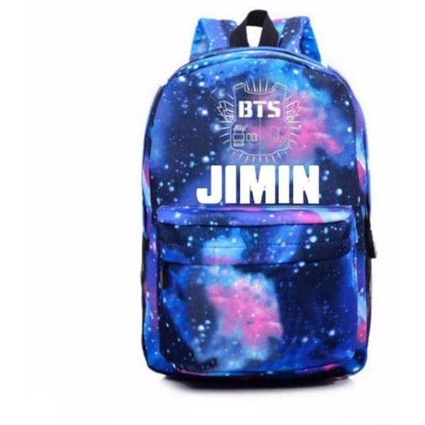 Pin by Melanie Storms on Polyvore (With images) | Galaxy backpack, Bts backpack, Bts bag
