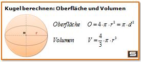 Kugelberechnung Formel