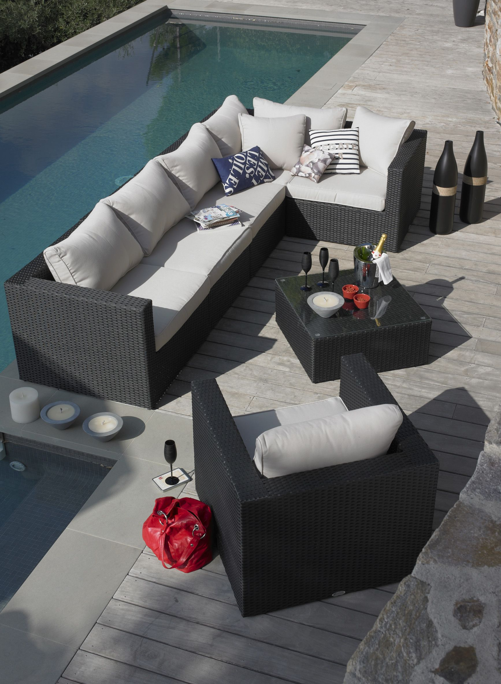 salon de jardin carlos pools pinterest alin a salon et ext rieur. Black Bedroom Furniture Sets. Home Design Ideas
