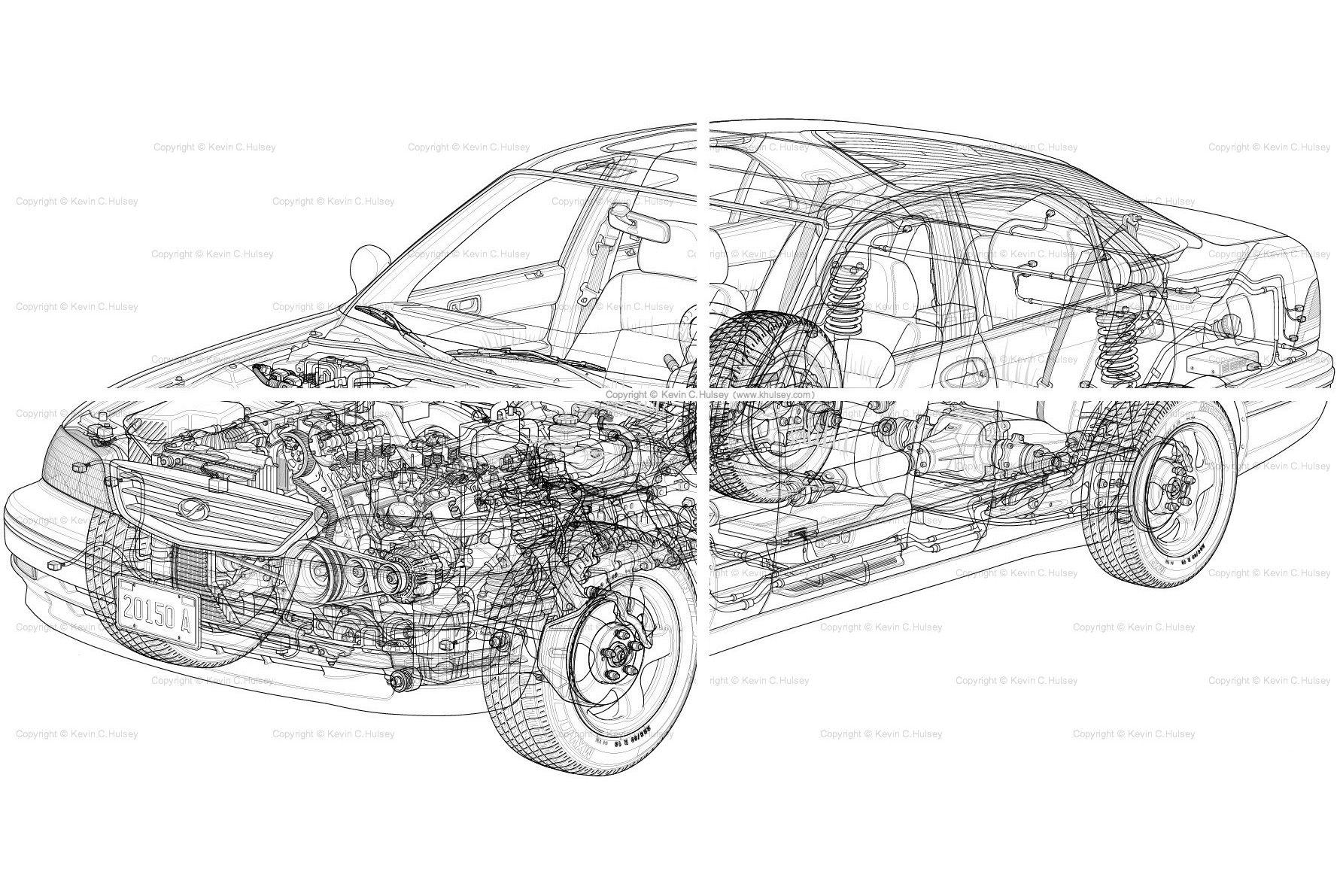 Car cutaway vector line drawingg 17771191 pixels blue print car cutaway vector line drawingg 17771191 pixels pooptronica