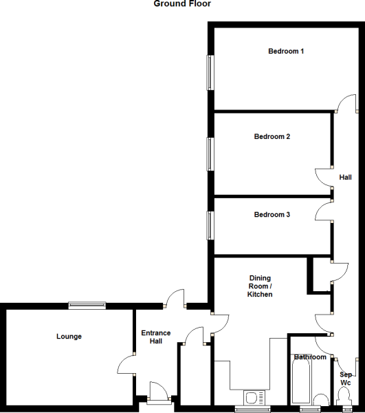 image result for l shaped bungalow floor plans new home pinterest bungalow living rooms. Black Bedroom Furniture Sets. Home Design Ideas