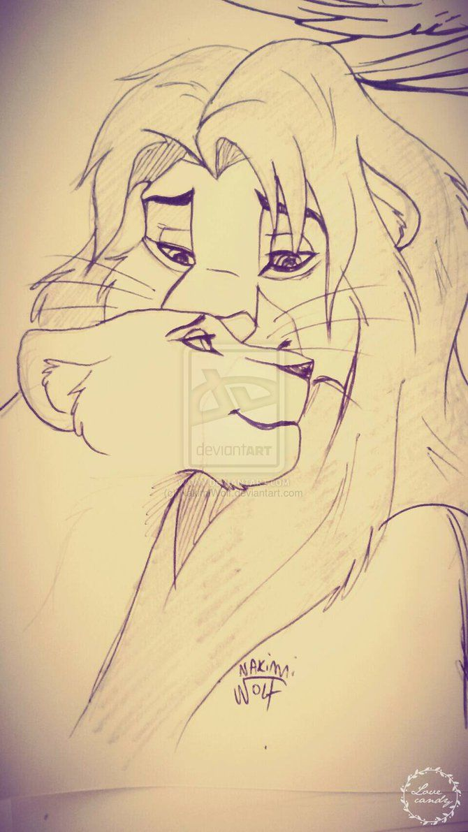 Simba Nala sketch by NakimiWolf   Disney Art-Need I Say More ...