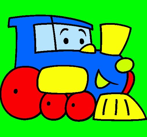 Resultado De Imagen Para Trencito Para Colorear Dibujo