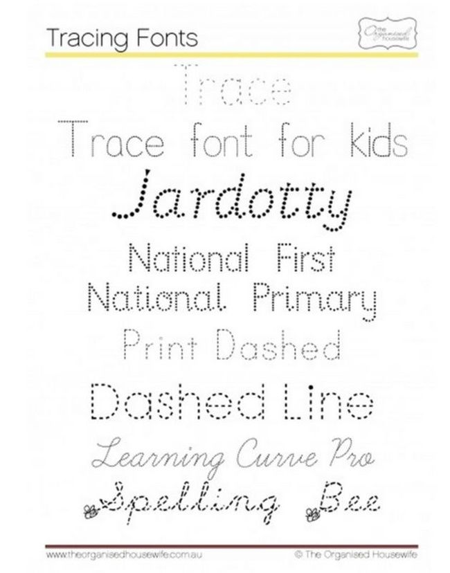 6 Free Tracing Fonts for Kids | Teaching First Grade - 1st