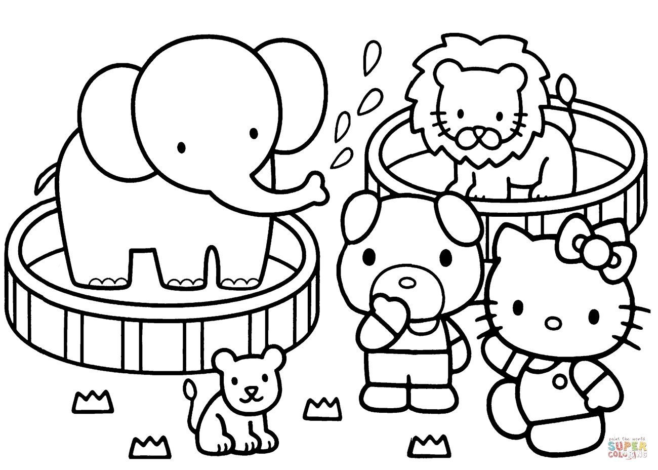 Zoo Coloring Hello Kitty Coloring Pages Allow Kids To Accompany Their Favorite Characters On Hello Kitty Colouring Pages Kitty Coloring Hello Kitty Coloring [ 928 x 1300 Pixel ]