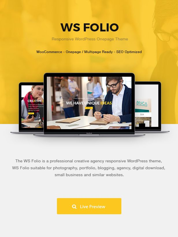 WS Folio - Responsive Portfolio WordPress Theme | Wordpress