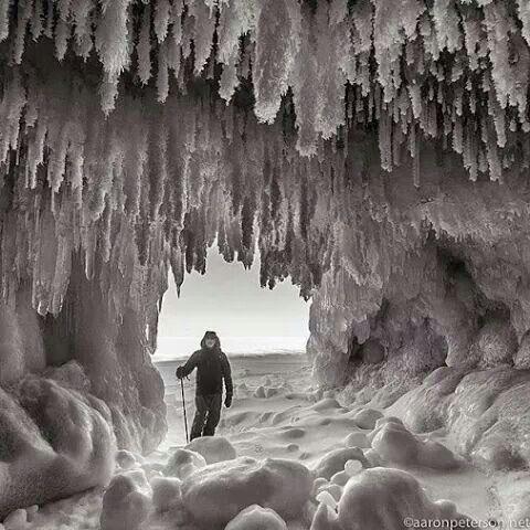 Ice caves   Pure michigan