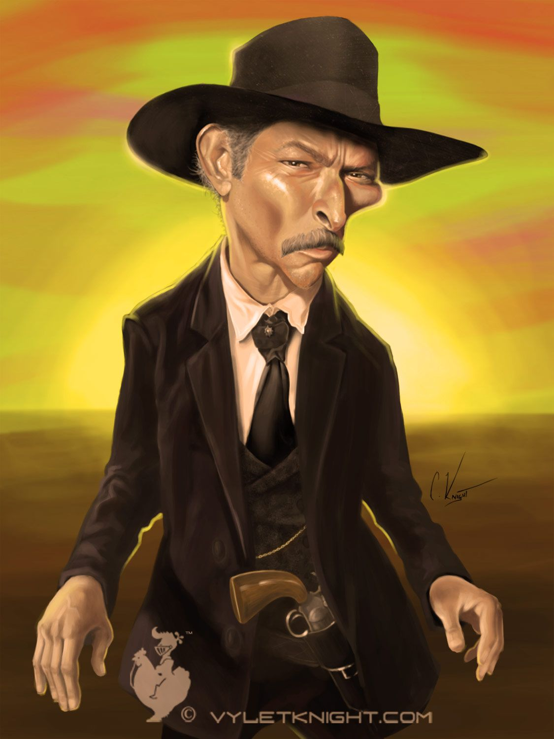 Colonel Mortimer (Lee Van Cleef) prêt à faire feu | Caricature et ...