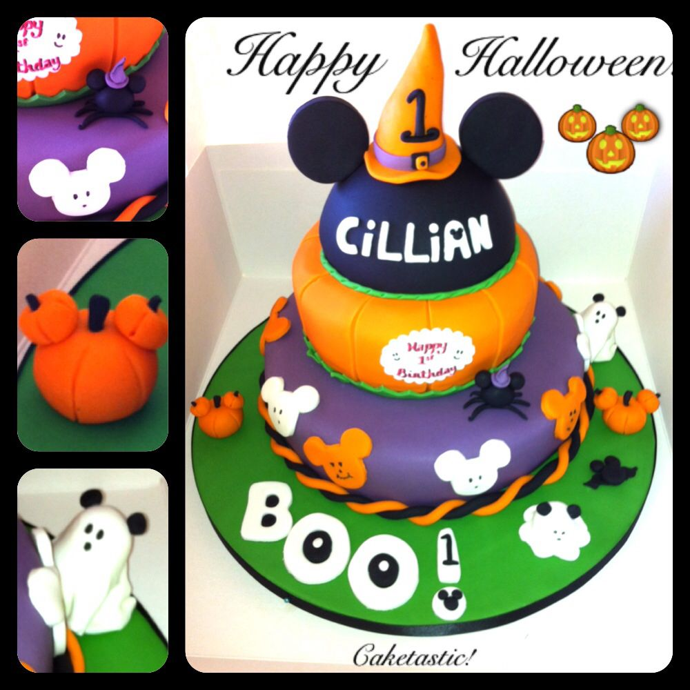 Halloween Mickey Mouse Cake! https://www.facebook.com/pages ...