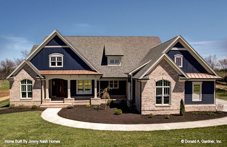 Home Plan The Austin By Donald A Gardner Architects Craftsman House Plans New House Plans Luxury Ranch House Plans