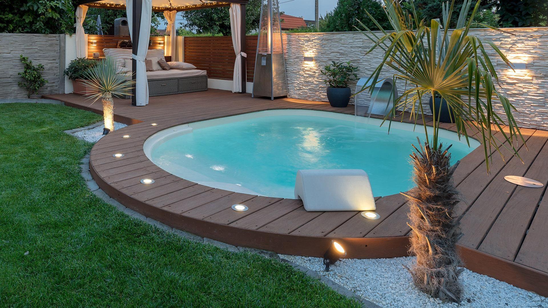 The Lola Mini Pool Waterair Swimming Pools With Images Mini