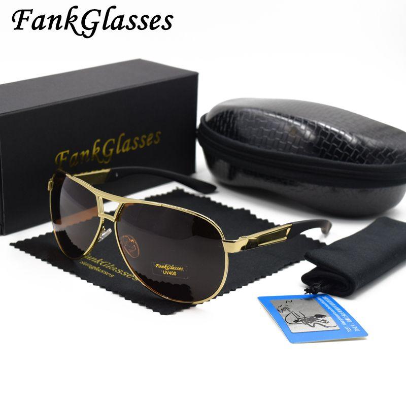 FankGlasses Hommes de marque designer lunettes de soleil polarisées  Revêtement Miroir Lunettes de Soleil oculos Homme 87c26fcea639