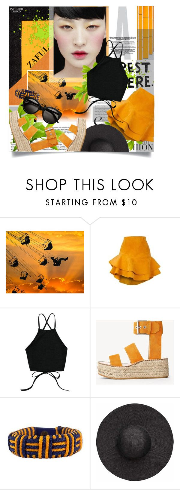 """""""Black & orange"""" by palmanana ❤ liked on Polyvore featuring Siobhan Molloy, rag & bone, NOVICA and Witchery"""