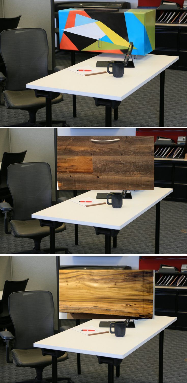 We Can Change The Look Of This Refurbished Office Desk We Can Paint The Metal Storage Or Add Patina Industrial Office Furniture Office Decor Office Design