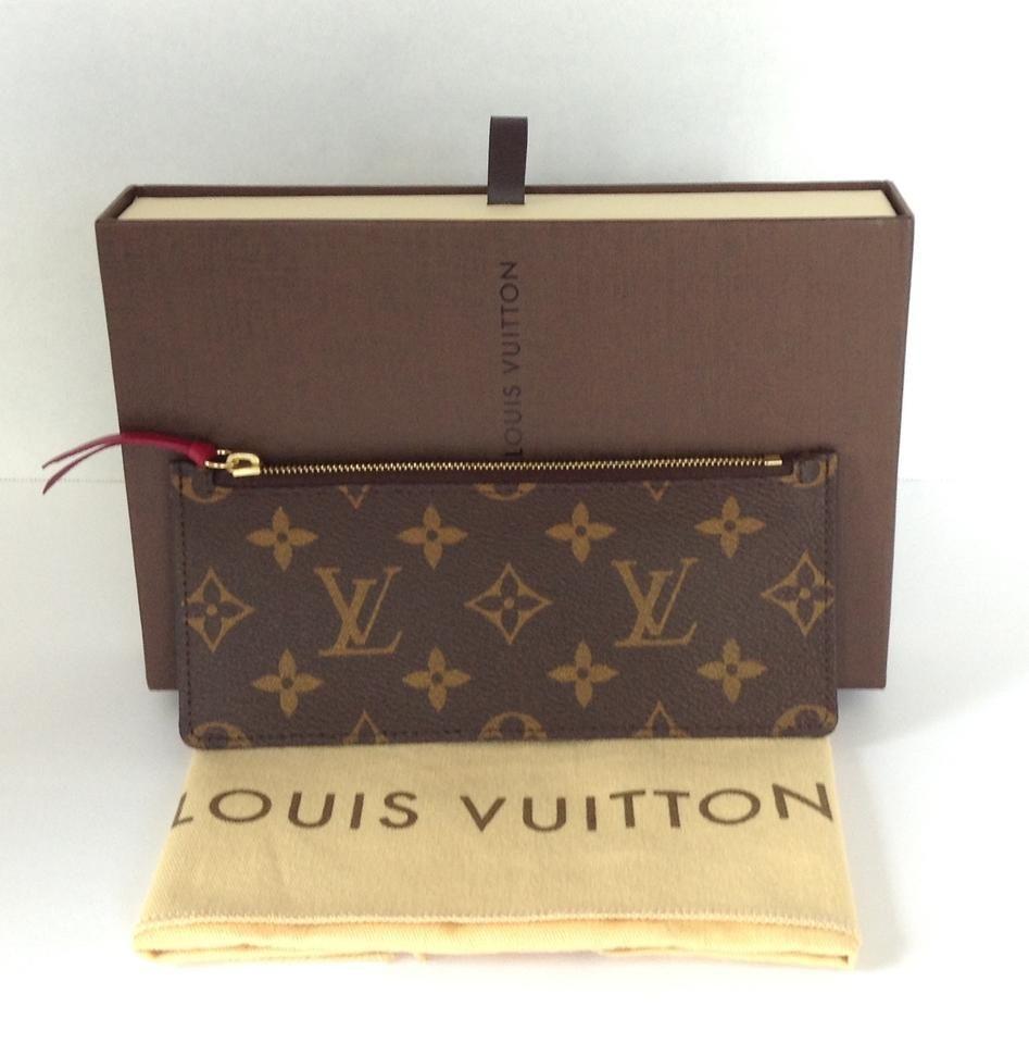 b82b87af24a8 LV Josephine wallet insert monogram w  fuchsia zipper pull