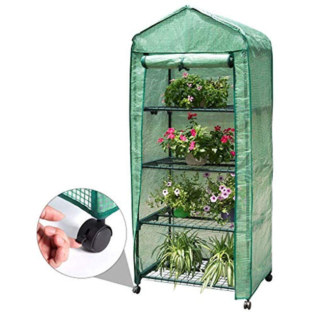 Finether 4-Tier Mini Serre de Jardin Metal PE Plastique ...