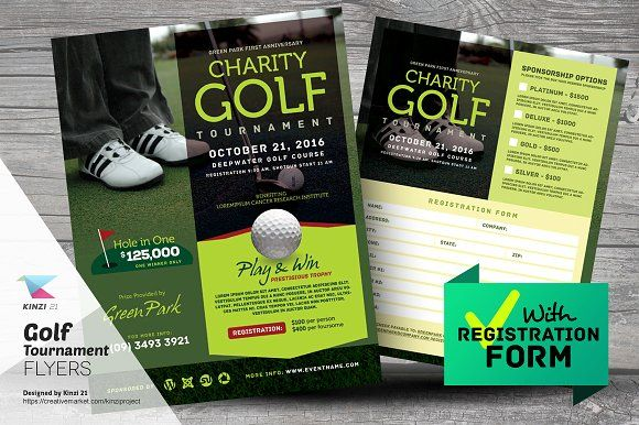 Golf Tournament Flyer By Kinzi On Creativemarket  Flyers