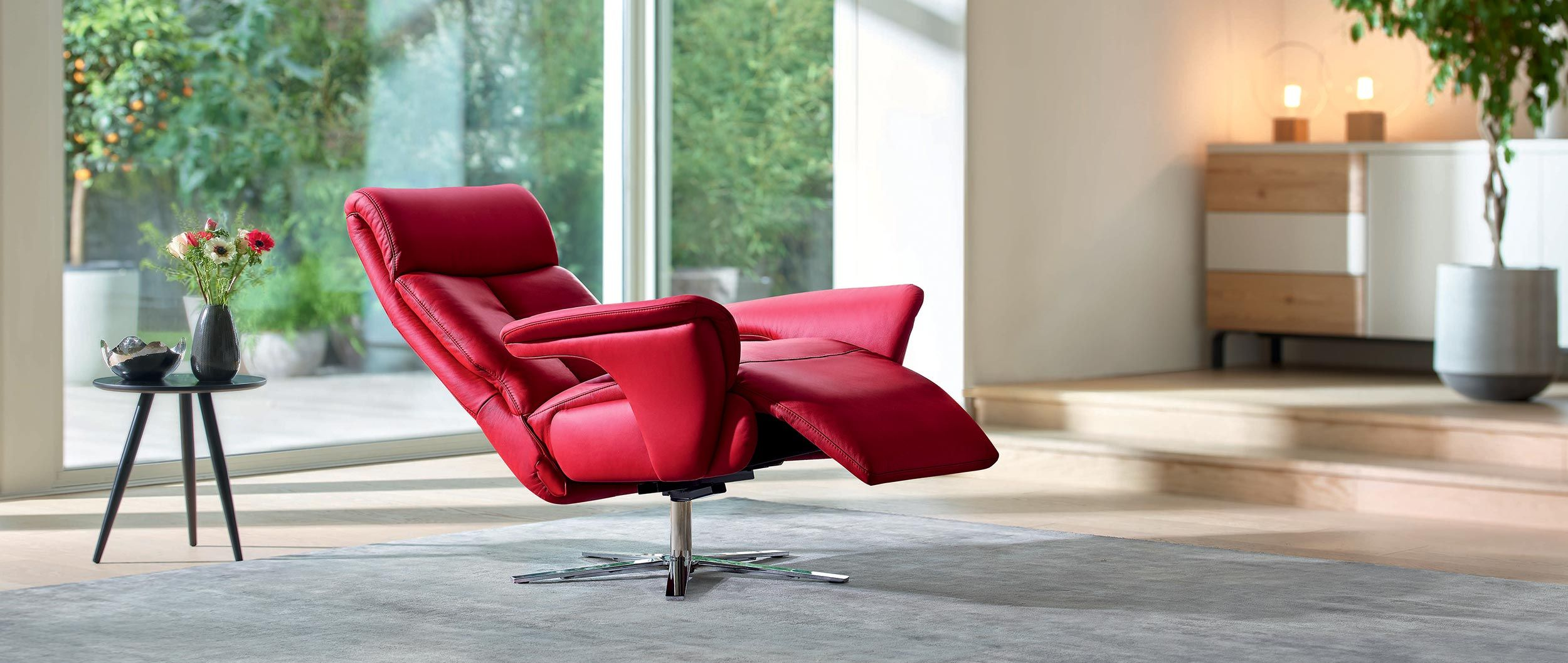 fauteuil camden inclinable et pivotant en cuir confort et relaxation. Black Bedroom Furniture Sets. Home Design Ideas