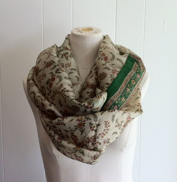 Infinity Scarf Beautiful Silk SARI Upcycled by TomieHarlene, $20.50