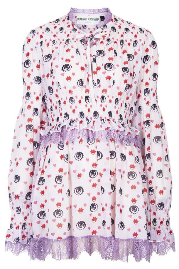 Meadham Kirchhoff for Topshop mini dress with eyeball print - http://thegliterati.net/2013/11/21/make-mine-meadham/