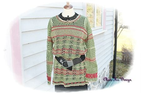 l�s og ledig strikket genser str.36-42
