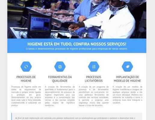 Criação de Site Institucional: Higicom Goiânia