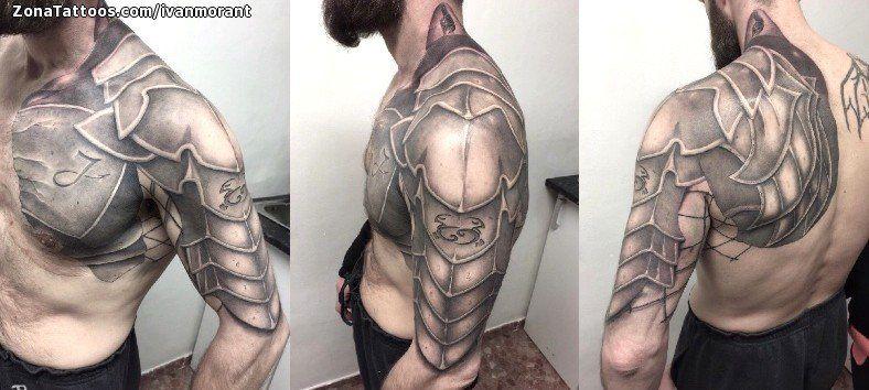 Tatuaje de Armaduras, Hombro, Pecho Tatuajes and Tattoo