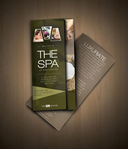 Nav Spa Brochure Designed By Amanda Cohen  Brochure  Magazine