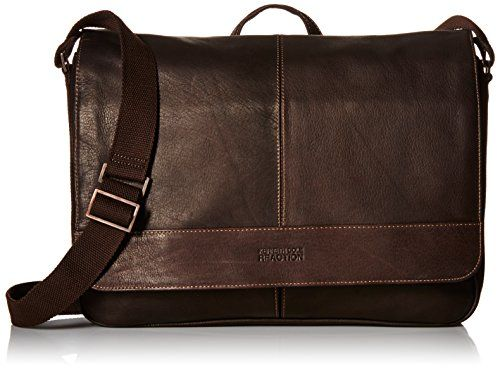 Kenneth Cole Reaction Come Bag Soon - Colombian Leather Laptop ... c0d0306b39