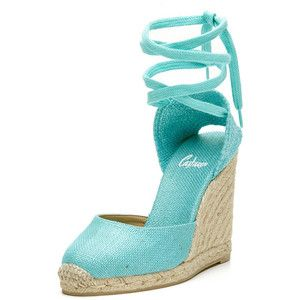 47f1c87760 Currently Coveting Castañer's Classically Chic Espadrilles Turquoise  Wedding Shoes, Turquoise Wedges, Wedge Wedding Shoes