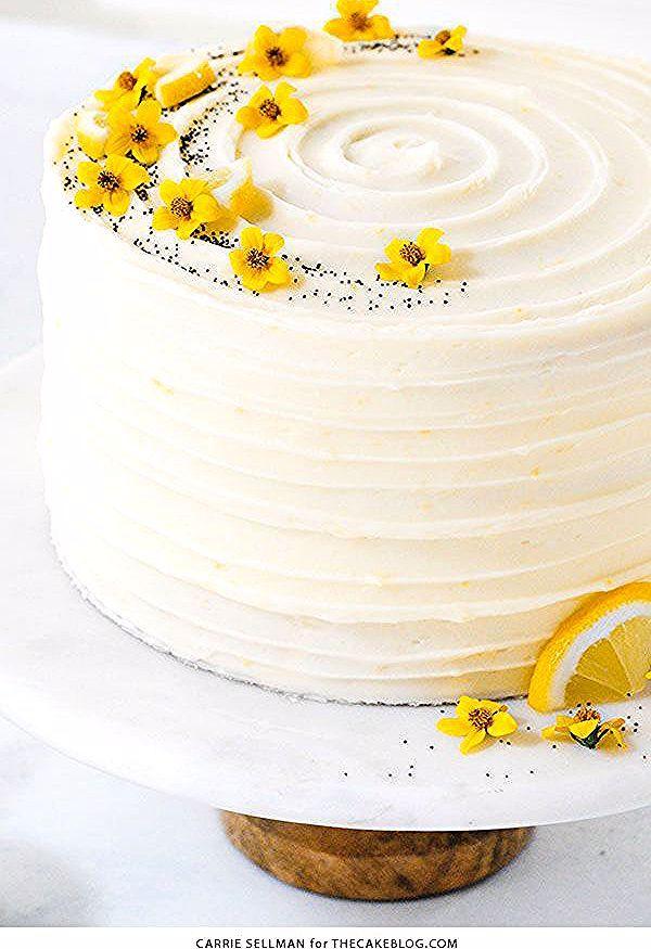 Lemon Poppy Seed Cake   by Carrie Sellman for TheCakeBlog.com #cake #lemon #easter #easterdinnerideas