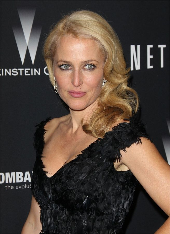 Gillian Anderson - golden globes 2014 after party