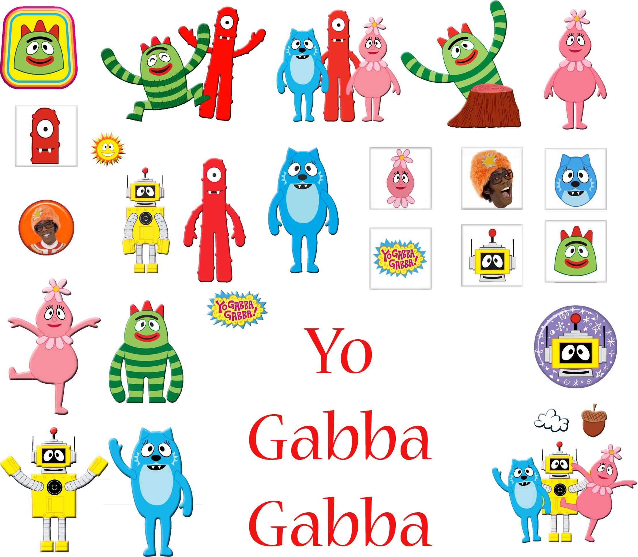 Yo Gabba Gabba Birthday Party Invitations | Gabba Friends | Yo Gabba ...