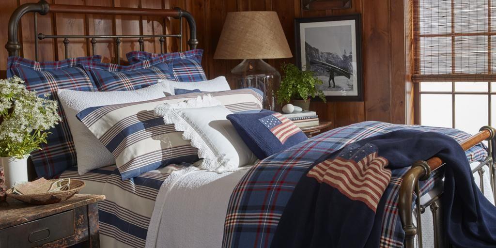 Parure De Lit Ralph Lauren Saranac Peak En 100 Coton 120 Fils Cm Linge De Lit Haut De Gamme Yves Delorme Bed Linens Luxury Single Duvet Cover Bed