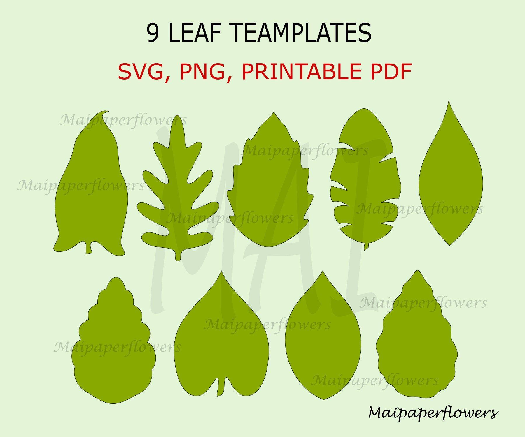 Paper Flower Leaves Svg Png Dxf Pdf Flower Leaf Svg Files Rose Leaves Cutting Svg Rose leaf Svg Paper Flower Leaf Template Svg Branch Svg